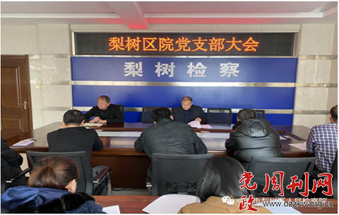 鸡西市梨树区检察院召开党支部会议